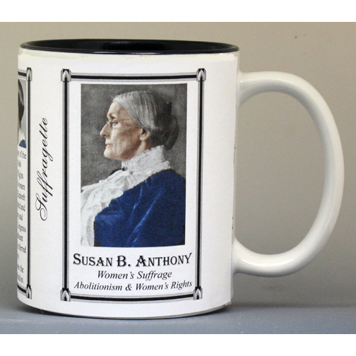 Susan B. Anthony American Suffragette history mug.