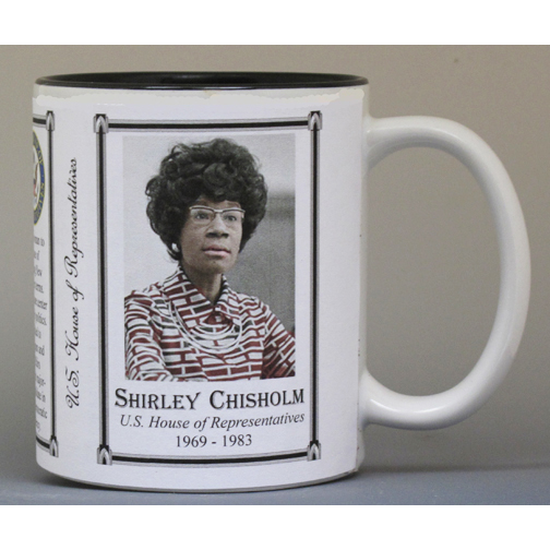 Shirley Chisholm US House of Representative history mug.