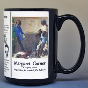 Margaret Garner, freedom seeker, biographical history mug.
