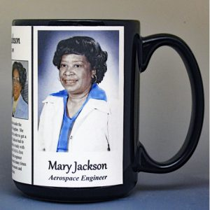 Mary Jackson, NASA aerospace engineer, biographical history mug.