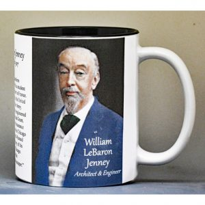 William LeBaron Jenney, Architect, biographical history mug.