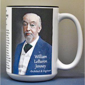 William LeBaron Jenney, architect and engineer, biographical history mug.