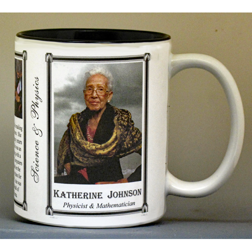 Katherine Johnson biographical history mug.
