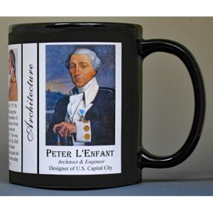 Peter Charles L'Enfant, architect & military engineer history mug.