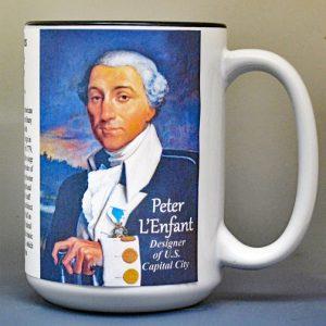 Peter Charles L'Enfant, architect & military engineer biographical history mug.