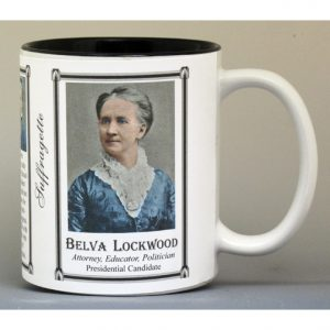Belva Lockwood Suffragette biographical history mug.