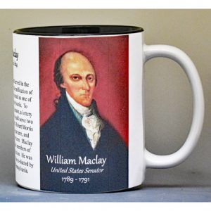 William Maclay, U.S. Senator biographical history mug.