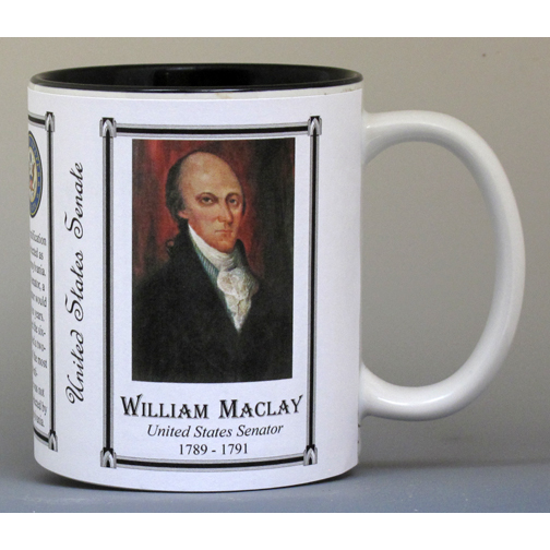 U.S. Senator William Maclay history mug.
