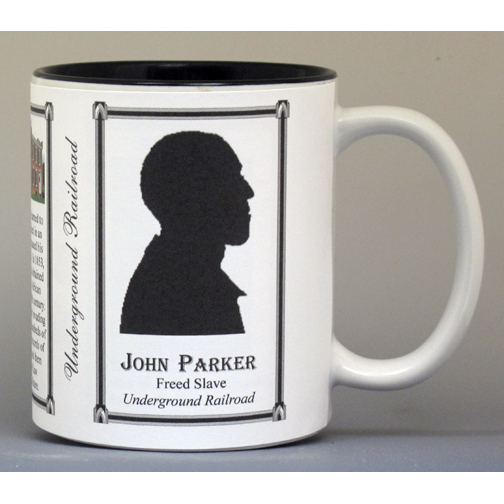 John Parker, Civil War Union civilian biographical history mug.