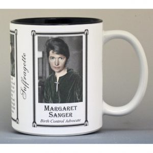 Margaret Sanger Suffragette biographical history mug.