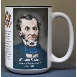 William Slade, US Representative biographical history mug.