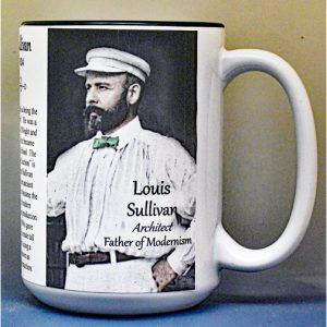 Louis Sullivan, Architect, biographical history mug.