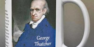 George Thatcher, Confederation Congress biographical history mug.