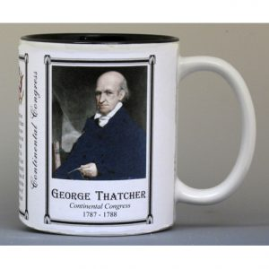 George Thatcher Continental Congress history mug.