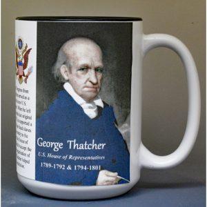 George Thatcher, US Representative biographical history mug.