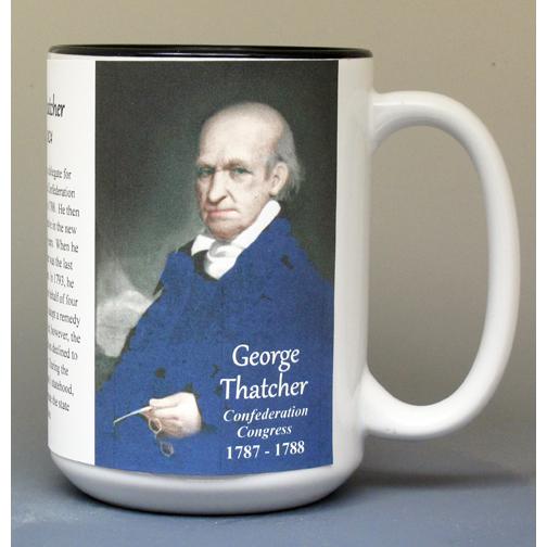 George Thatcher, Confederation Congress biographical history mug.