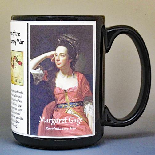 Margaret Kemble Gage, Revolutionary War biographical history mug.