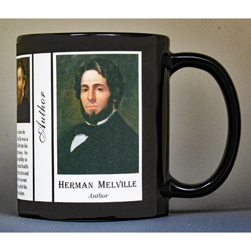 Herman Melville, Author biographical history mug.