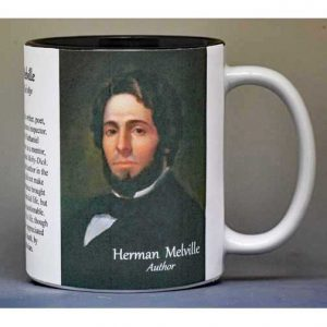 Herman Melville author history mug.