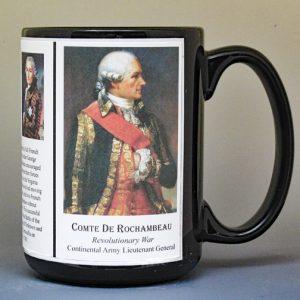 Comte de Rochambeau, American Revolutionary War biographical history mug.