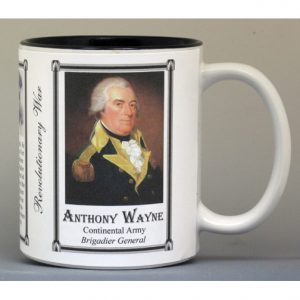 Anthony Wayne, Revolutionary War biographical history mug.
