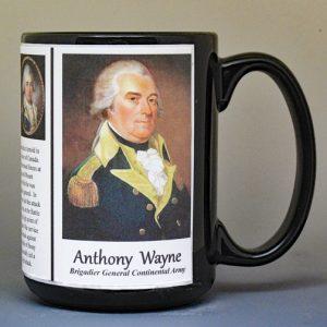 Anthony Wayne, American Revolutionary War biographical history mug.