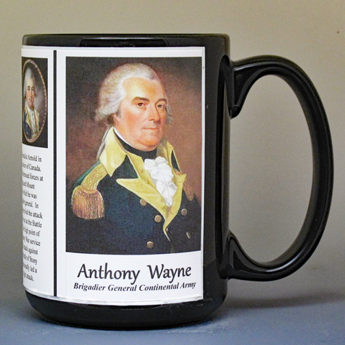 Anthony Wayne, Revolutionary War biographical history mug.