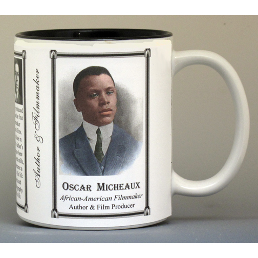 Oscar Micheaux, Film Director & Author biographical history mug.