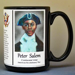 Peter Salem, American Revolutionary War biographical history mug.