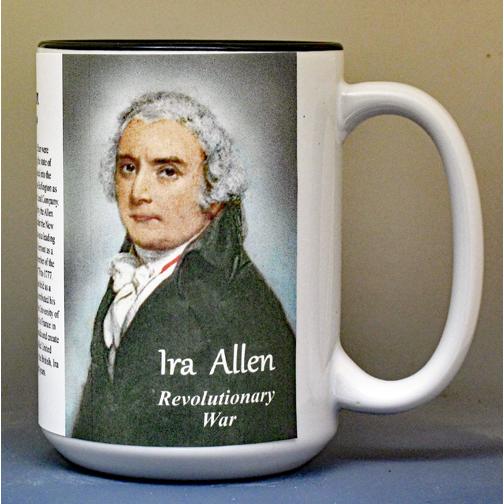 Ira Allen, Revolutionary War biographical history mug.
