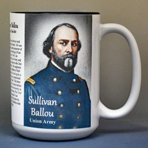 Sullivan Ballou, Union Army, US Civil War biographical history mug.