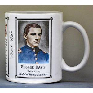 George Davis, Battle of Monocacy biographical history mug.