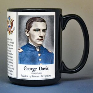 George Davis, Medal of Honor Battle of Monocacy, US Civil War biographical history mug.