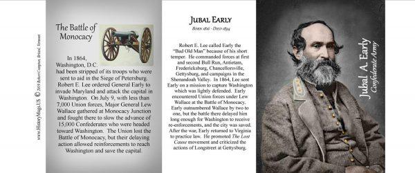 Jubal Early, Civil War Monocacy history mug tri-panel.