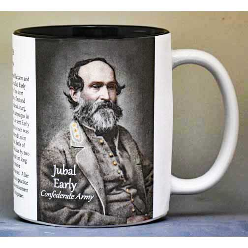 Jubal Early, Battle of Monocacy biographical history mug.