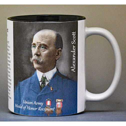 Alexander Scott, Battle of Monocacy biographical history mug.