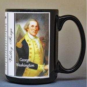 George Washington, Valley Forge biographical history mug.