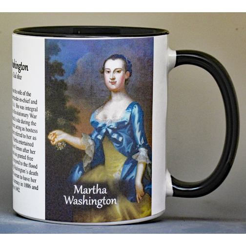 Martha Washington, Valley Forge history mug.