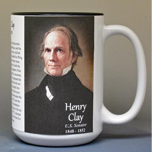 Henry Clay, US Senator history mug.