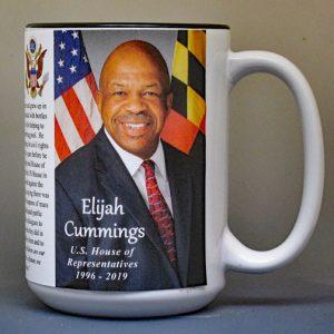 Elijah Cummings, US House of Representatives biographical history mug.