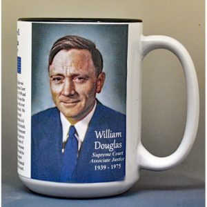 William O. Douglas, US Supreme Court Justice biographical history mug.