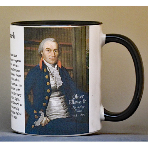 Oliver Ellsworth, US Supreme Court Chief Justice biographical history mug.