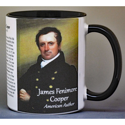 James Fenimore Cooper author biographical history mug.