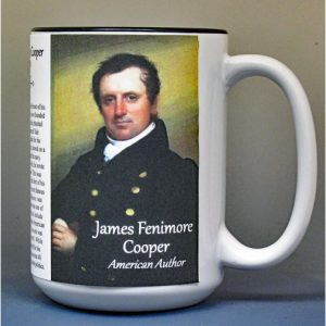 James Fenimore Cooper, author, biographical history mug.