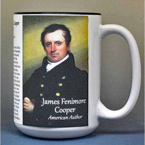 James Fenimore Cooper biographical history mug.
