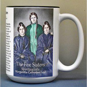 The Fox Sisters, Spiritualists, biographical history mug.