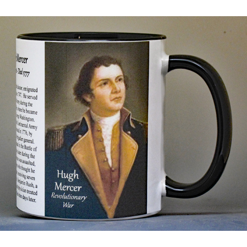 Hugh Mercer, Revolutionary War biographical history mug.