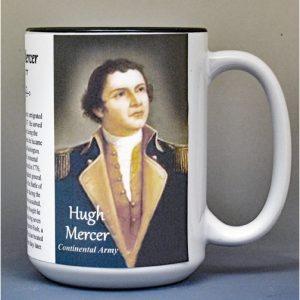 Hugh Mercer, American Revolutionary War biographical history mug.