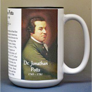 Dr. Jonathan Potts, American Revolutionary War biographical history mug.