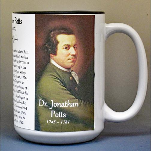 Jonathan Potts, Revolutionary War biographical history mug.
